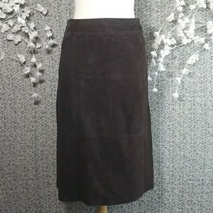 NWOT Nordstrom Collection Suede Midi Skirt